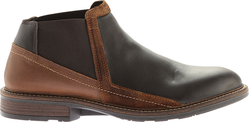 Men's Naot Business Chelsea Boot, French Roast Leather/Saddle Brown Leather, large, image 2