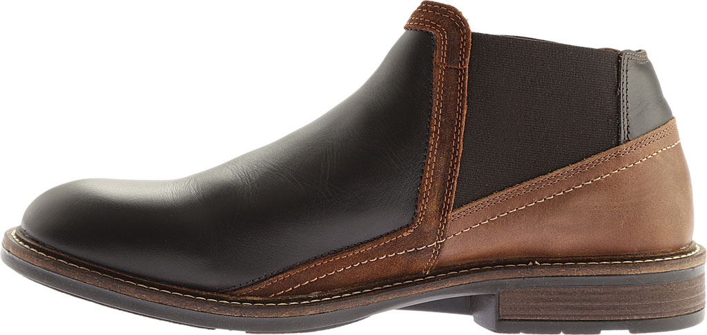 Men's Naot Business Chelsea Boot, French Roast Leather/Saddle Brown Leather, large, image 3