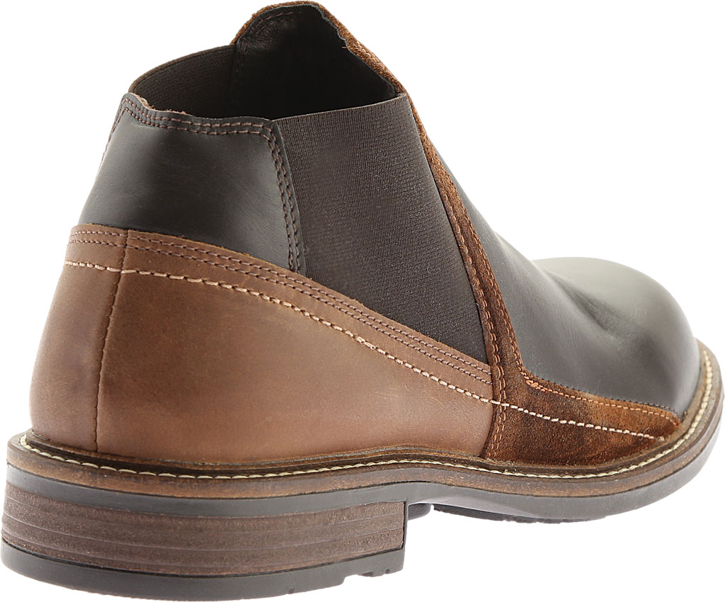 Men's Naot Business Chelsea Boot, French Roast Leather/Saddle Brown Leather, large, image 4