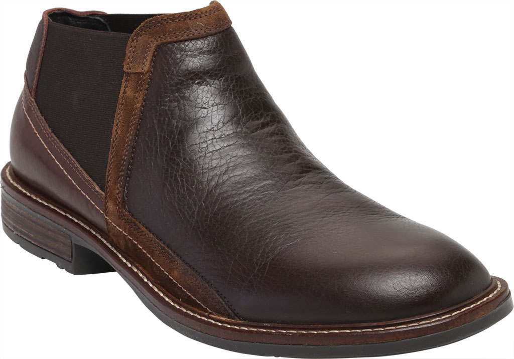 Men's Naot Business Chelsea Boot, Soft Brown/Toffee Brown/Seal Brown Suede/Leather, large, image 1
