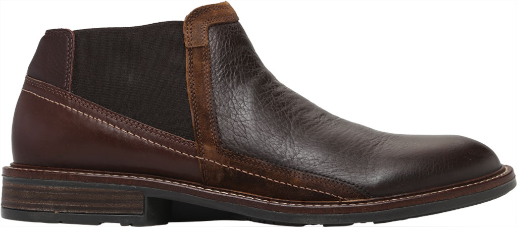 Men's Naot Business Chelsea Boot, Soft Brown/Toffee Brown/Seal Brown Suede/Leather, large, image 2