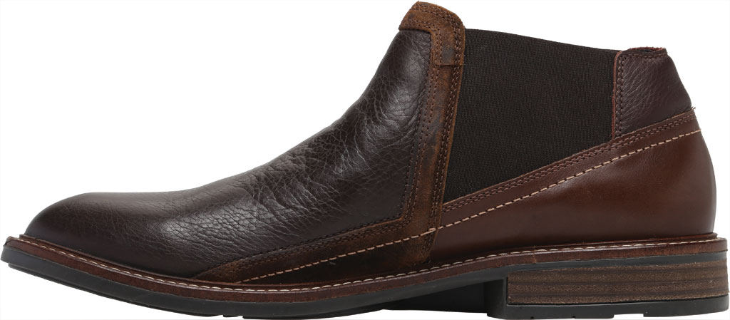 Men's Naot Business Chelsea Boot, Soft Brown/Toffee Brown/Seal Brown Suede/Leather, large, image 3
