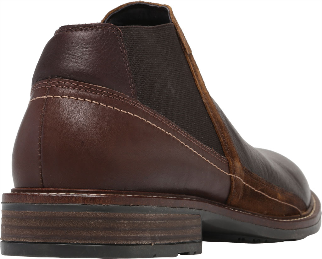 Men's Naot Business Chelsea Boot, Soft Brown/Toffee Brown/Seal Brown Suede/Leather, large, image 4