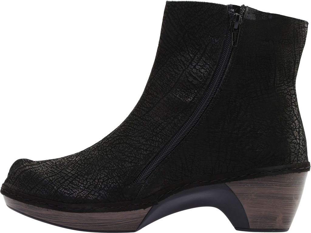 Women's Naot Almeria Ankle Boot, Brown Croc Leather, large, image 3