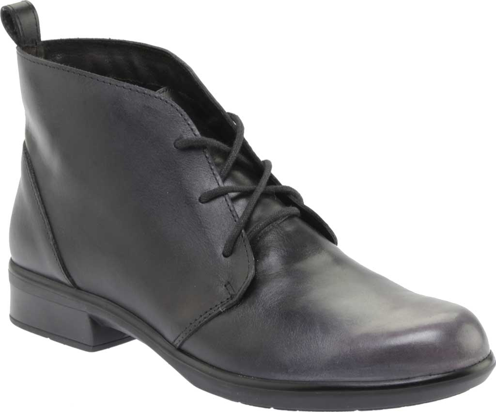 Women's Naot Levanto Lace Up Ankle Boot, Gray Black Handcrafted Leather, large, image 1
