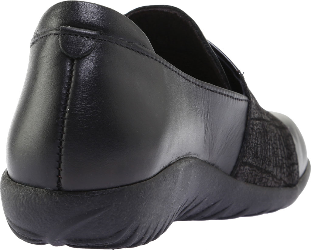 Women's Naot Rapoka Adjustable Strap Shoe, Black Raven/Black Crackle/Jet Black Leather, large, image 4