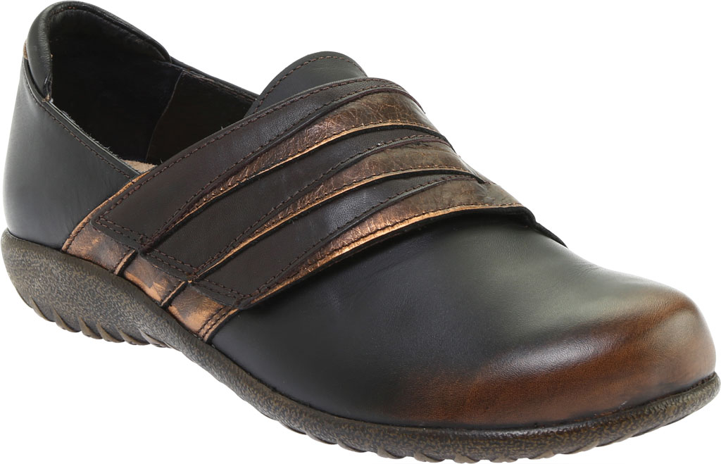 Women's Naot Rapoka Adjustable Strap Shoe, Volcanic Brown/Burnt Copper/French Roast Leather, large, image 1