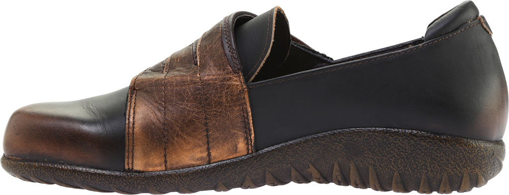 Women's Naot Rapoka Adjustable Strap Shoe, Volcanic Brown/Burnt Copper/French Roast Leather, large, image 3