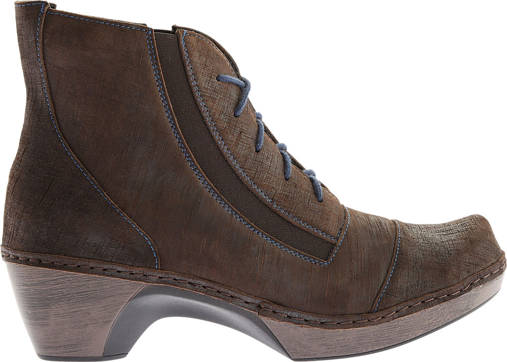 Women's Naot Avila Lace Up Boot, Reptile Grey Leather, large, image 2