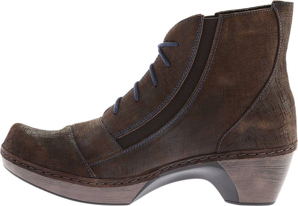Women's Naot Avila Lace Up Boot, Reptile Grey Leather, large, image 3