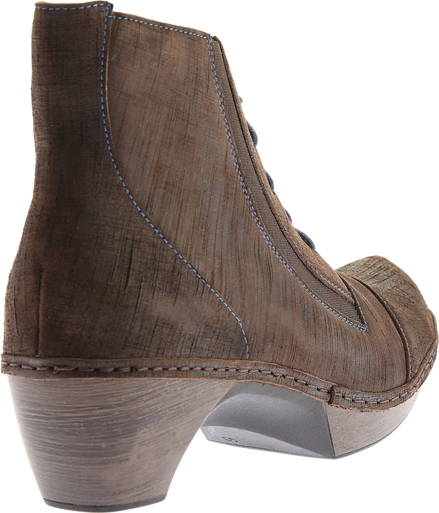 Women's Naot Avila Lace Up Boot, Reptile Grey Leather, large, image 4