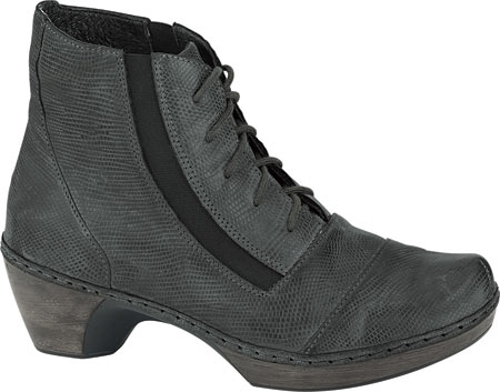 Women's Naot Avila Lace Up Boot, Reptile Grey Leather, large, image 1