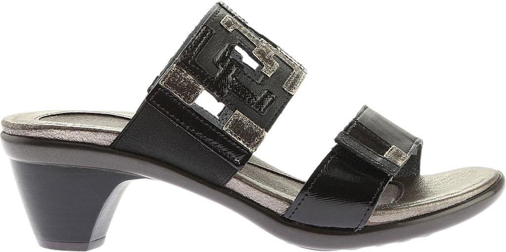 Women's Naot Chic Quarter Strap Sandal, Black Raven Lthr/Black Luster Lthr/Metal Lthr, large, image 2