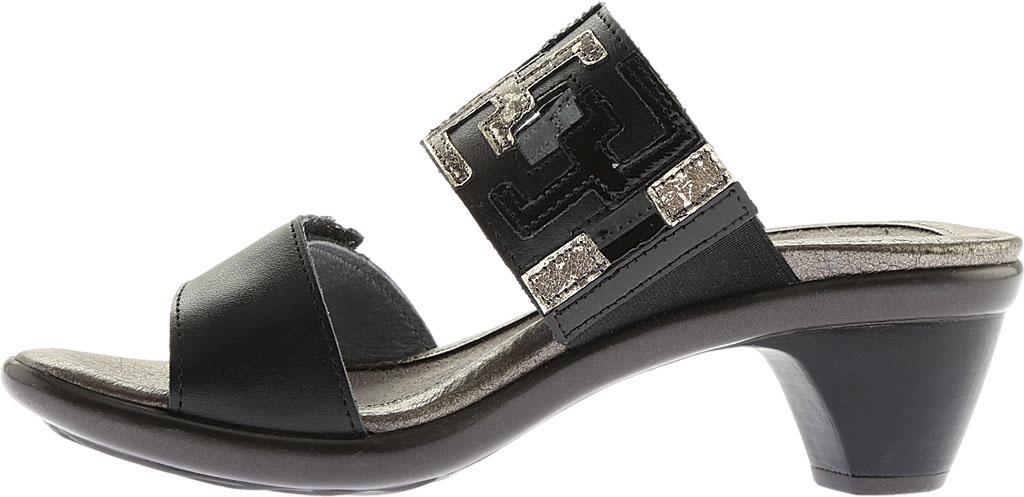 Women's Naot Chic Quarter Strap Sandal, Black Raven Lthr/Black Luster Lthr/Metal Lthr, large, image 3