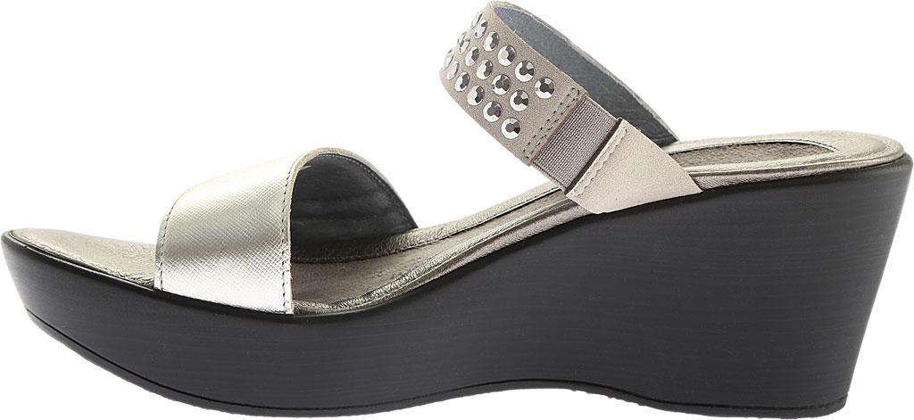Women's Naot Response Wedge Sandal, Luster Leather/Gray with Silver Rhinestone, large, image 3