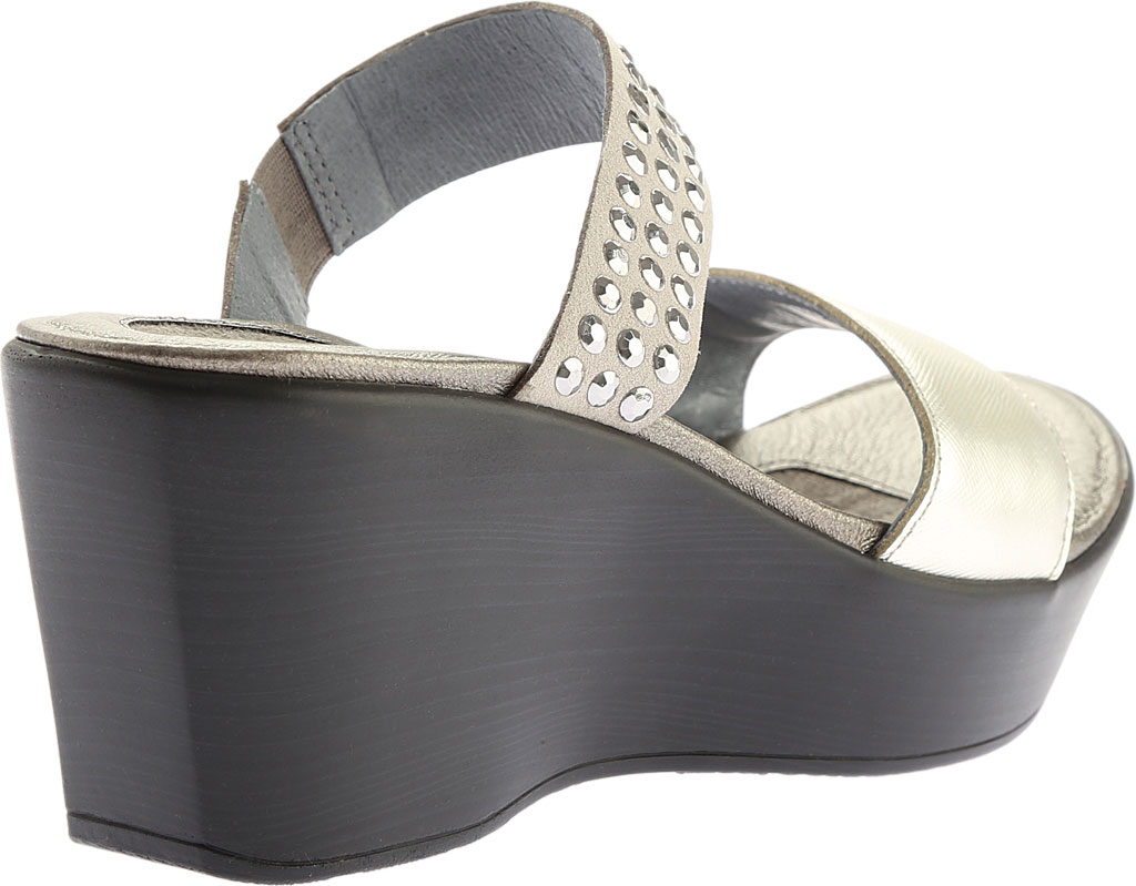 Women's Naot Response Wedge Sandal, Luster Leather/Gray with Silver Rhinestone, large, image 4