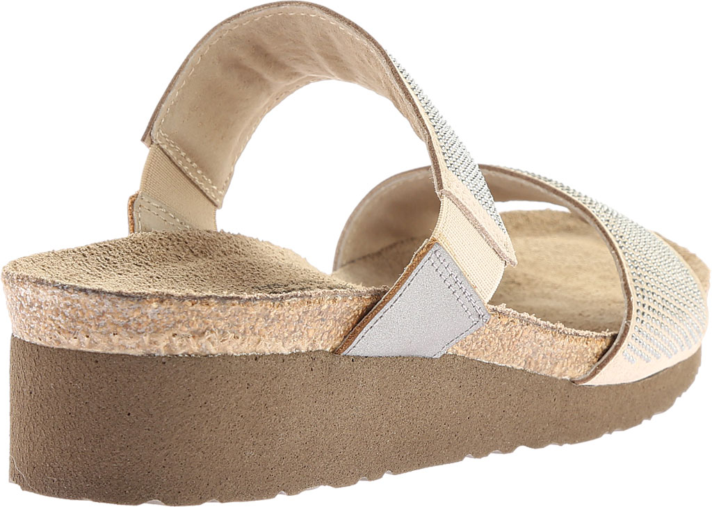 Women's Naot Bianca Slide Sandal, Beige with Silver Rivets/Mirror Leather, large, image 4