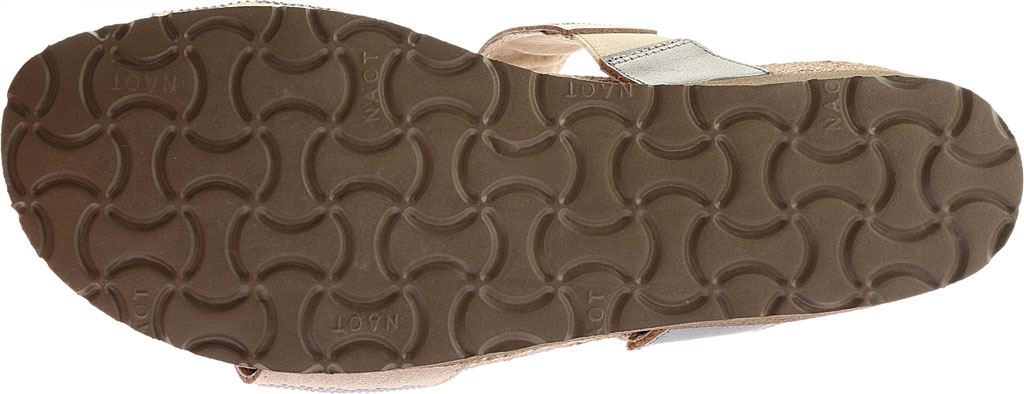 Women's Naot Bianca Slide Sandal, Beige with Silver Rivets/Mirror Leather, large, image 6