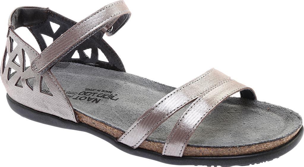 Women's Naot Bonnie Quarter Strap Sandal, Silver Threads Leather, large, image 1