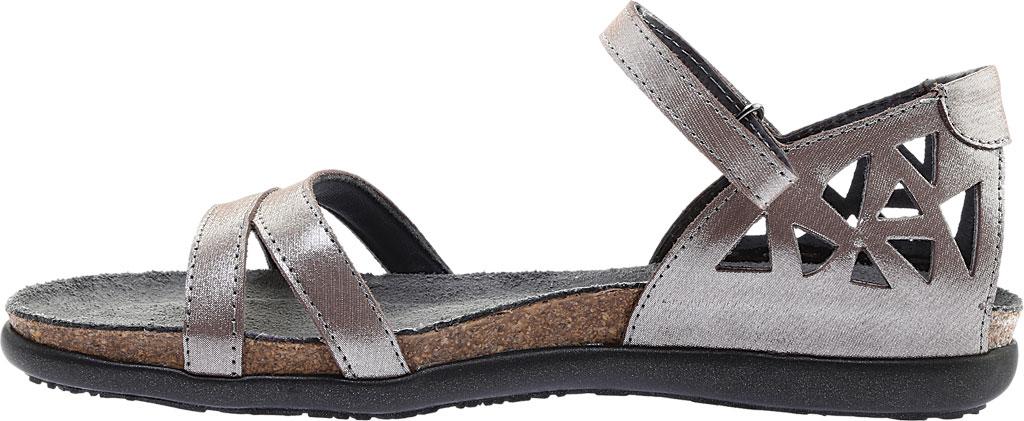 Women's Naot Bonnie Quarter Strap Sandal, Silver Threads Leather, large, image 3