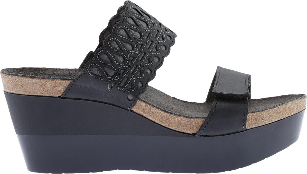 Women's Naot Rise Wedge Sandal, Oily Coal/Shadow Gray Nubuck, large, image 2