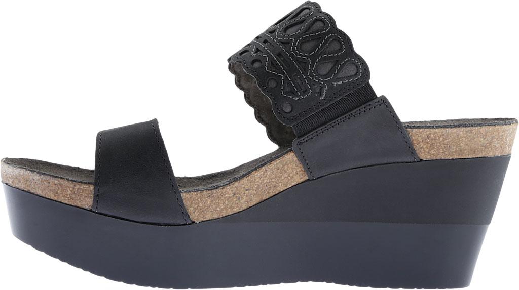 Women's Naot Rise Wedge Sandal, Oily Coal/Shadow Gray Nubuck, large, image 3