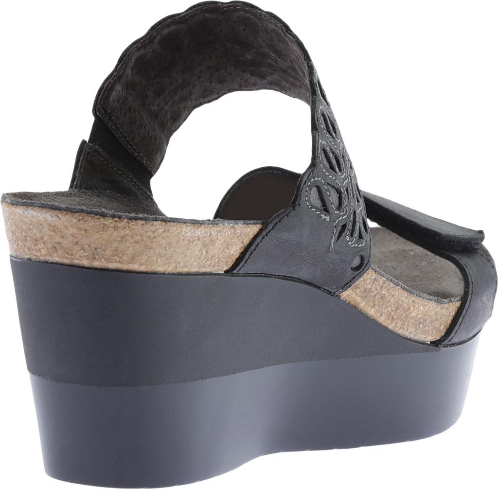 Women's Naot Rise Wedge Sandal, Oily Coal/Shadow Gray Nubuck, large, image 4