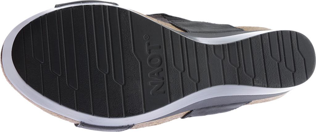 Women's Naot Rise Wedge Sandal, Oily Coal/Shadow Gray Nubuck, large, image 6