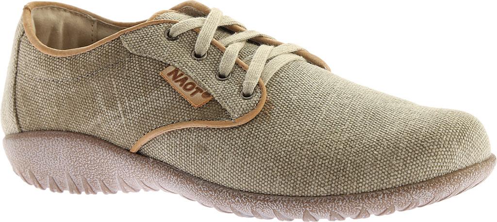 Women's Naot Tiaki Lace Up Shoe, Khaki/Biscuit Leather, large, image 1