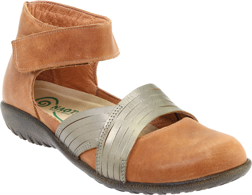 Women's Naot Tenei Ankle Strap, Latte Brown Leather/Pewter Leather, large, image 1
