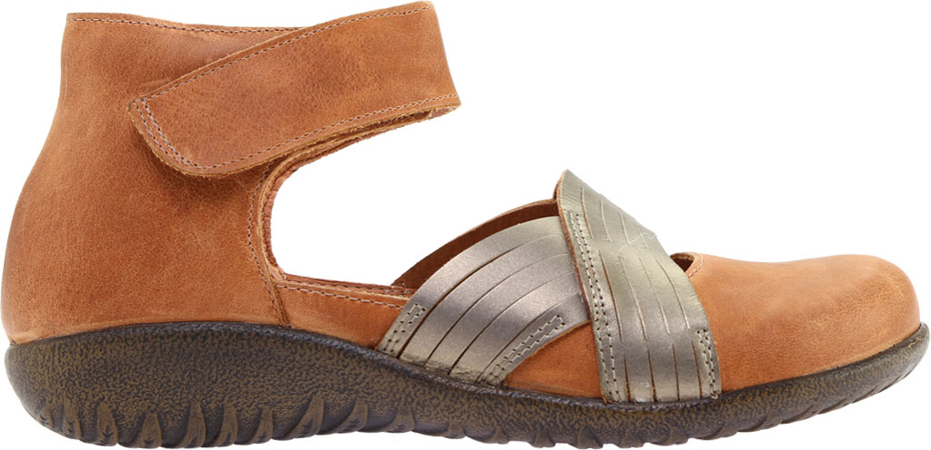 Women's Naot Tenei Ankle Strap, Latte Brown Leather/Pewter Leather, large, image 2