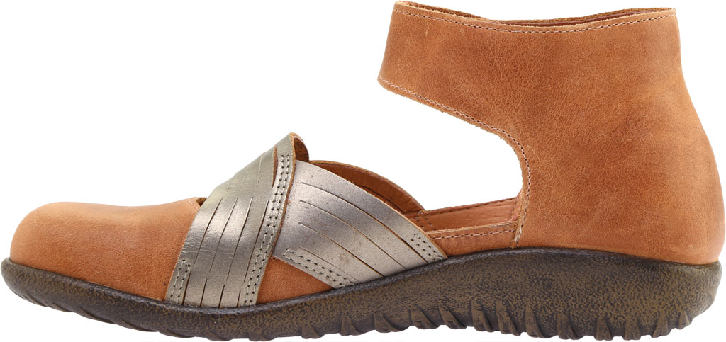 Women's Naot Tenei Ankle Strap, Latte Brown Leather/Pewter Leather, large, image 3