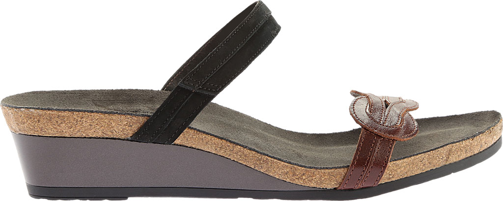 Women's Naot Folklore Slide Sandal, Silver Luster Leather/Sea Pearl Leather, large, image 2
