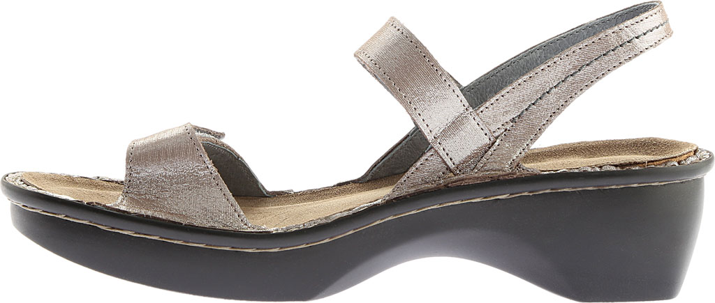 Women's Naot Brussels Adjustable Strap Sandal, Silver Threads Leather, large, image 3