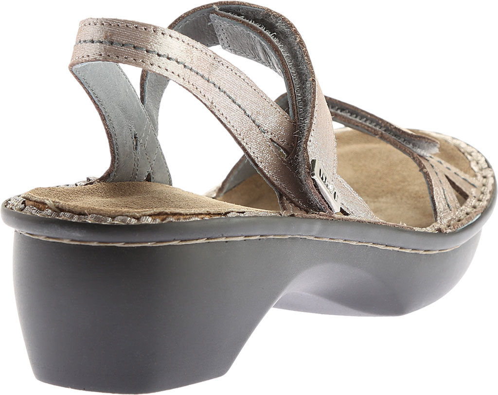 Women's Naot Brussels Adjustable Strap Sandal, Silver Threads Leather, large, image 4