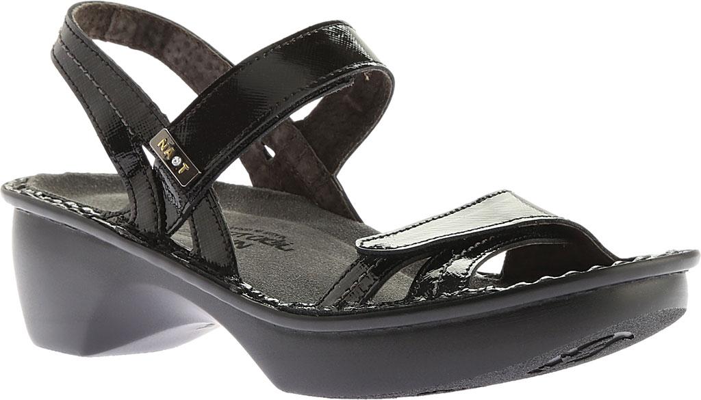 Women's Naot Brussels Adjustable Strap Sandal, Black Luster Leather, large, image 1