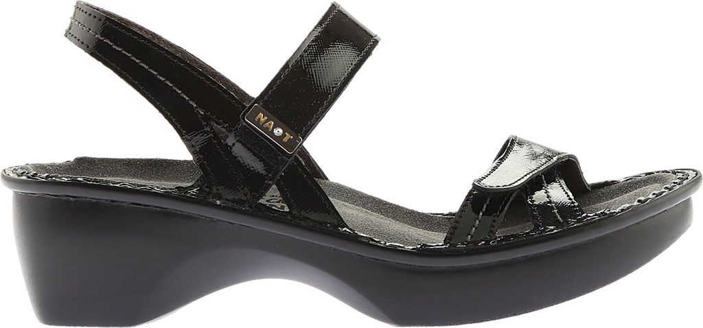 Women's Naot Brussels Adjustable Strap Sandal, Black Luster Leather, large, image 2