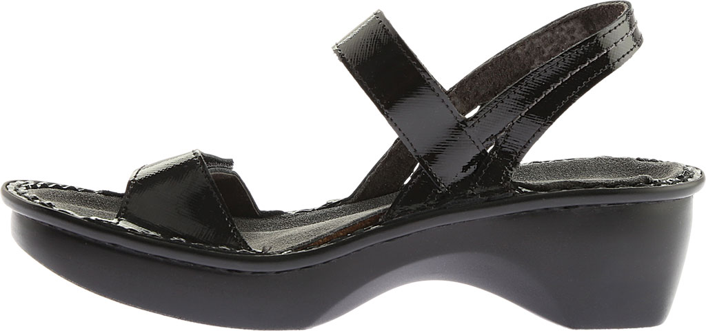 Women's Naot Brussels Adjustable Strap Sandal, Black Luster Leather, large, image 3