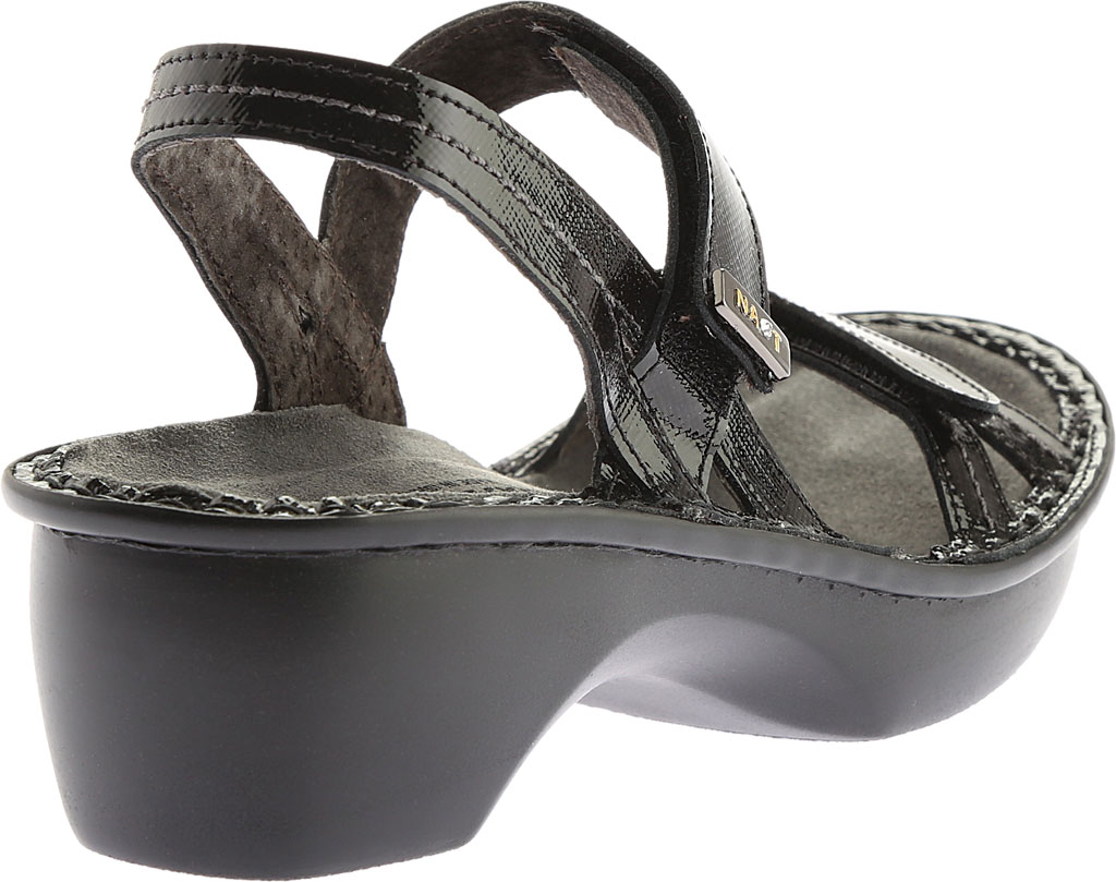 Women's Naot Brussels Adjustable Strap Sandal, Black Luster Leather, large, image 4