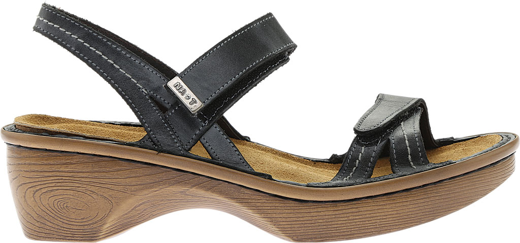 Women's Naot Brussels Adjustable Strap Sandal, Vintage Ash Leather with Wood Sole, large, image 2
