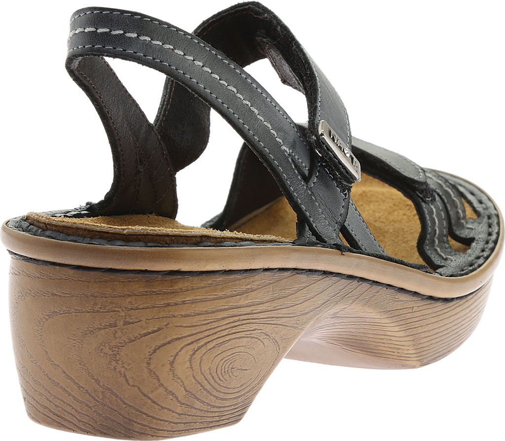 Women's Naot Brussels Adjustable Strap Sandal, Vintage Ash Leather with Wood Sole, large, image 4