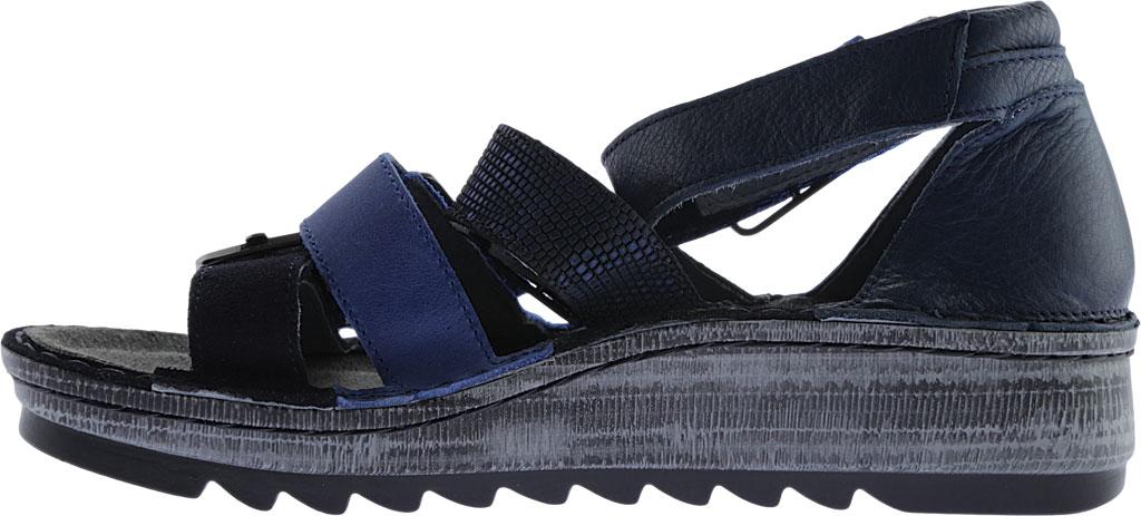 Women's Naot Begonia Ankle Strap Sandal, Blue Velvet Suede/Polar Sea/Navy/Ink Leather, large, image 3
