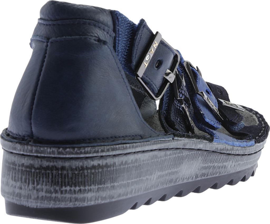 Women's Naot Begonia Ankle Strap Sandal, Blue Velvet Suede/Polar Sea/Navy/Ink Leather, large, image 4
