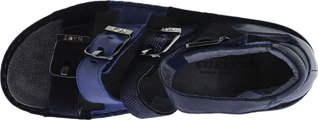 Women's Naot Begonia Ankle Strap Sandal, Blue Velvet Suede/Polar Sea/Navy/Ink Leather, large, image 5