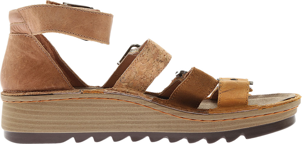 Women's Naot Begonia Ankle Strap Sandal, Oily Dune Nubuck/Desert Suede/Latte Brown Leather, large, image 2