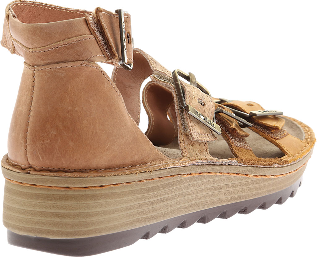 Women's Naot Begonia Ankle Strap Sandal, Oily Dune Nubuck/Desert Suede/Latte Brown Leather, large, image 4
