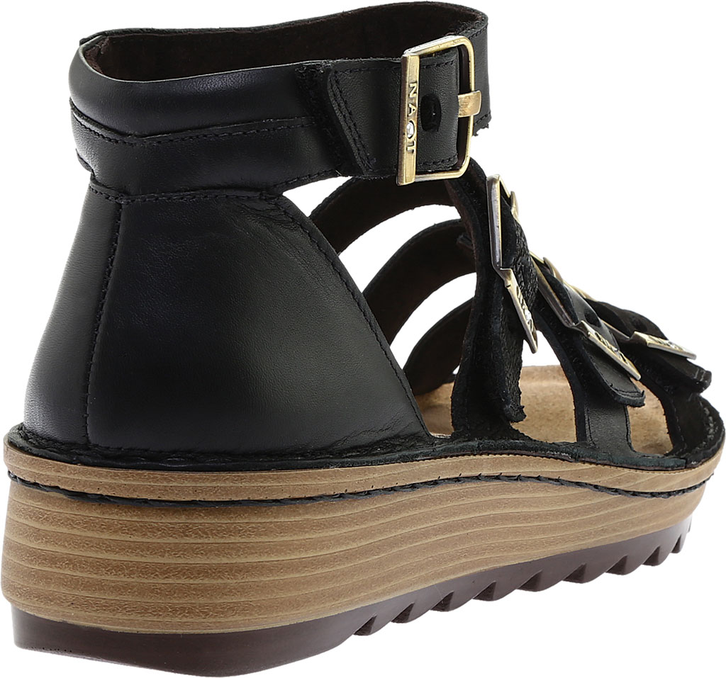 Women's Naot Begonia Ankle Strap Sandal, Black Velvet/Mtl Rd/Black Crkle Comb Leather, large, image 4