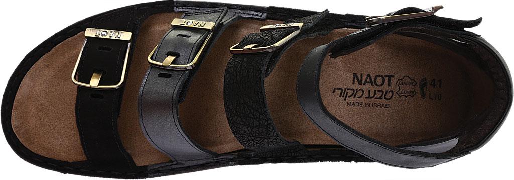 Women's Naot Begonia Ankle Strap Sandal, Black Velvet/Mtl Rd/Black Crkle Comb Leather, large, image 5
