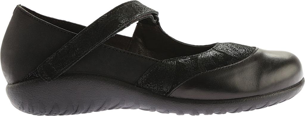 Women's Naot Luga Mary Jane, Black Lace/Oily Coal/Black Madras Nubuck/Leather, large, image 2