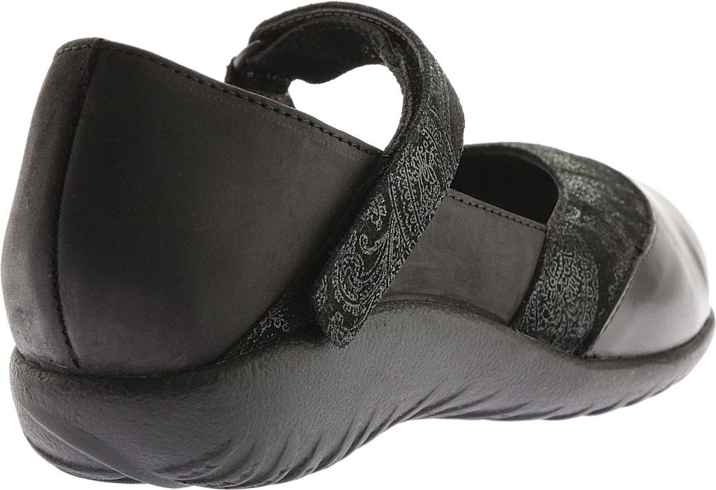 Women's Naot Luga Mary Jane, Black Lace/Oily Coal/Black Madras Nubuck/Leather, large, image 4